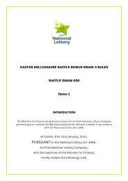 EASTER MILLIONAIRE RAFFLE BONUS DRAW 3 ... - National Lottery