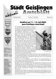 Stadtfest am 11. / 12. Juli 2009: ganz Geislingen ... - Stadt Geislingen