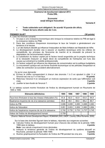 Examenul de bacalaureat naţional 2013 Proba DNL ... - Ziua Veche