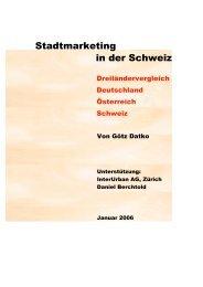 Stadtmarketing in der Schweiz - SVSM - Schweizerische ...