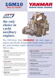 the only choice in yacht auxiliary engines. - EP Barrus