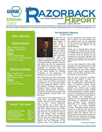 April - ASHRAE® Arkansas Chapter