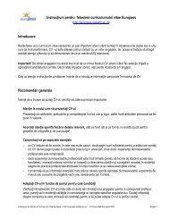Instructiuni CV