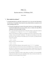 PHIL12A Section answers, 14 February 2011 - Philosophy