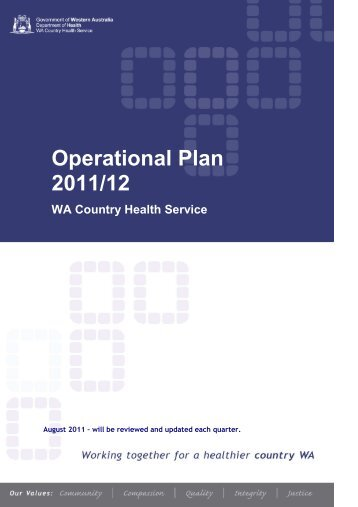 WA Country Health Service operational plan 2011-2012