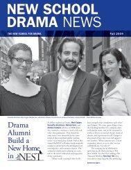 Drama Alumni Build a New Home in - The New School