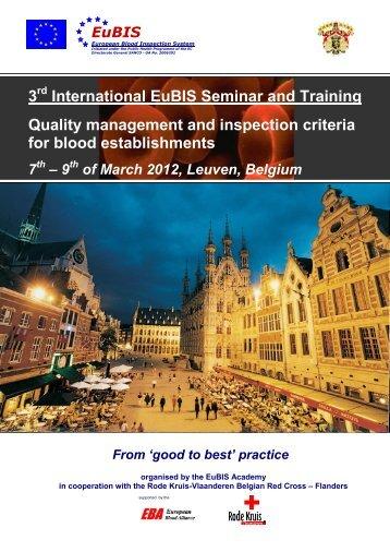 3rd International EuBIS Seminar and Training Quality management ...