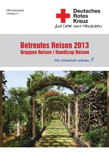 Reisekatalog Deckblatt 2013 - DRK Kreisverband Limburg