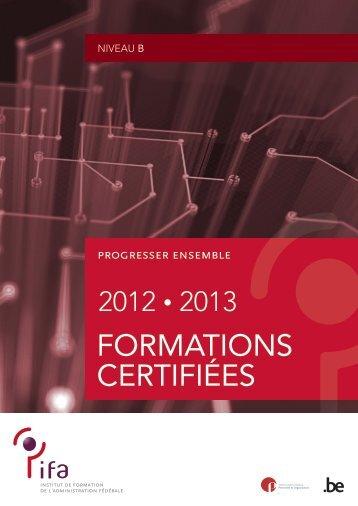 Formations certifiées de niveau B (PDF, 805.66 Kb) - Fedweb