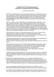 Trauerfeier für Dr. Berndmark Heukemes Ansprache von - Morgenweb