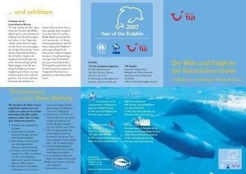 Leitfaden für nachhaltiges Whale Watching - TUI AG