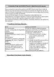 Articulation Projet de RASED d'Etouvie / objectifs du ... - Amiens 2