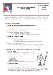 Utilisation des échelles portables - CDG Gard