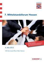 7. Mittelstandsforum Hessen - Convent