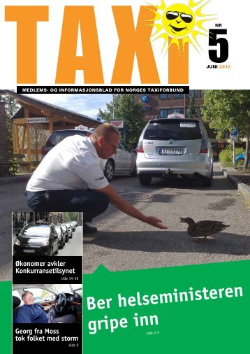 TAXI nr. 5/12 - Norges Taxiforbund