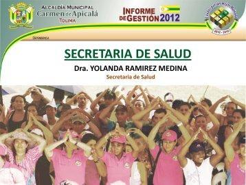 Descargar la rendición INFORME DE GESTION VIGENCIA 2012