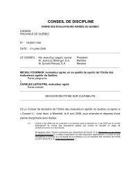 2009/07/31 - Ordre des évaluateurs agréés du Québec