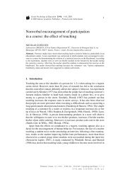 Nonverbal encouragement of participation in a course - ResearchGate