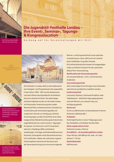 Die Jugendstil-Festhalle - Stadtholding Landau