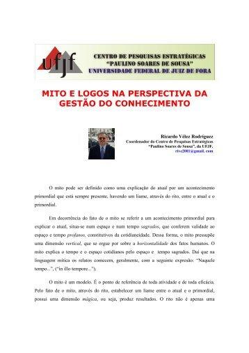 MITO E LOGOS NA PERSPECTIVA DA GESTÃO DO ... - UFJF /Defesa