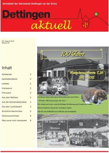 100 Jahre - Gemeinde Dettingen an der Erms