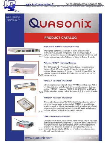 PRODUCT CATALOG - INSTRUMENTATION DEVICES