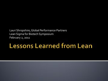 Lessons Learned from Lean