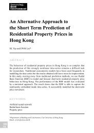 An Alternative Approach to the Short Term Prediction of Residential ...