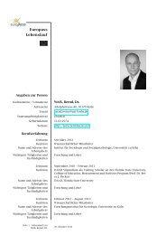 Curriculum vitae - Bernd Weiß