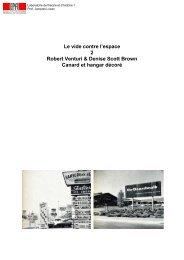 Learning from Las Vegas - Laboratoire de théorie et d'histoire de l ...
