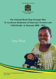 National Road Map Strategic Plan to Accelerate Reduction of - basics
