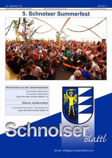 5. Schnolser Summerfest - Schnolser Blattl