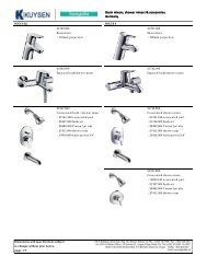 Basin mixers, shower mixers & accessories. Germany ... - Kuysen