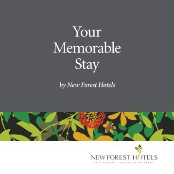 New Forest Hotels Group Brochure