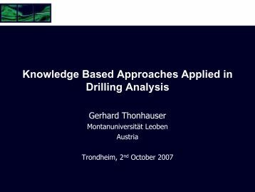 Knowledge Based Approaches Applied in Drilling Analysis