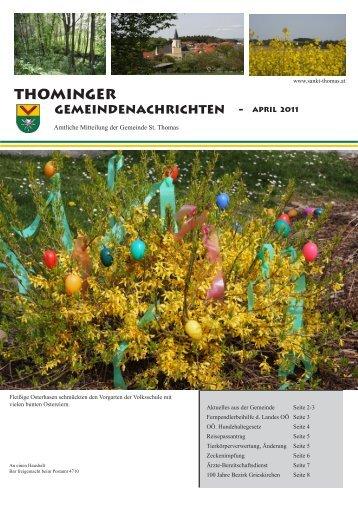 Gemeindezeitung April 2011 - Gemeinde Sankt Thomas