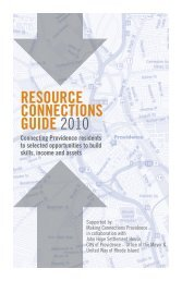 resource connections guide 2010 - State of Rhode Island: Division ...