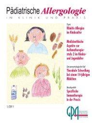 Rhinitis Allergica im Kindesalter Spezifische Immuntherapie in der ...