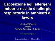 Esposizione agli allergeni indoor e rischio di allergie respiratorie in ...