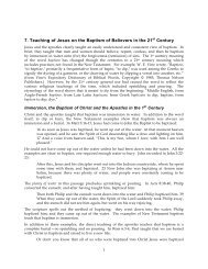 7. Teaching of Jesus on the Baptism of Believers ... - Gospel Lessons