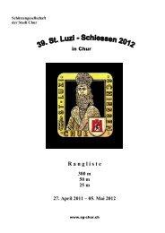 Rangliste - Schützengesellschaft der Stadt Chur