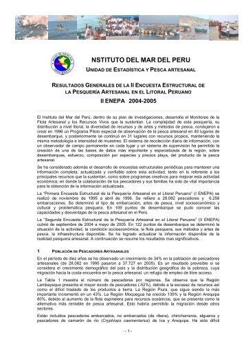 Segunda encuesta estructural en el litoral peruano - Imarpe