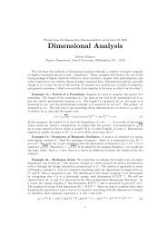 Dimensional Analysis - Department of Physics - Drexel University
