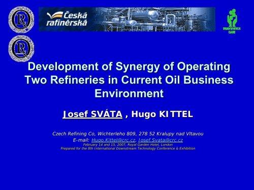 CRC´s refineries