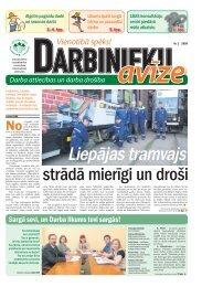 Darbinieku avīze Nr. 2 - Latvijas Brīvo Arodbiedrību Savienība