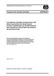 le rôle des agences d'emploi - International Labour Organization