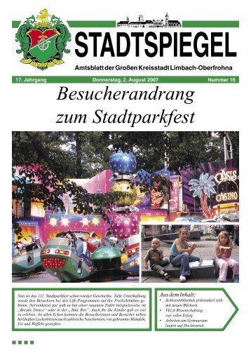 Der Stadtspiegel gratuliert - Stadt Limbach-Oberfrohna