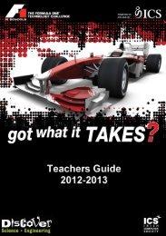 Teacher's Guide to F1 in Schools