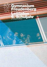 6. Schuljahr Leitfaden 2014/2015 - Kantonsschule Freudenberg ...