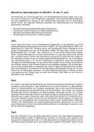Bericht zur ibac-Exkursion im SS 2011 vom 14